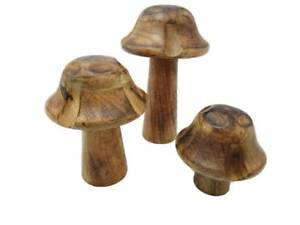 champignon en bois holzpilz Nature Décoration de jardin déco idée ...