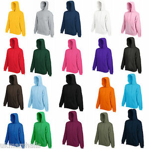 FRUIT-OF-THE-LOOM-HOODED-TOP-HOODIE-20-COLOURS-S-XXL