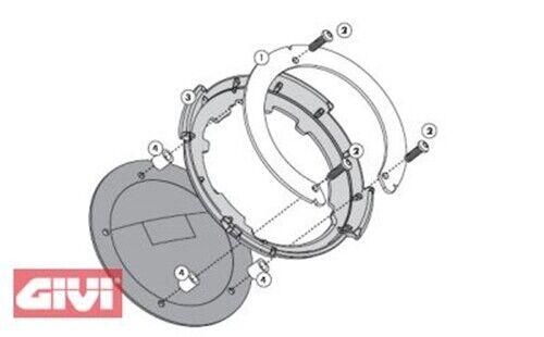 Tanklock Tankbefestigungsring für Tankrucksäcke KTM 125/200/390 Duke schwarz BF-
