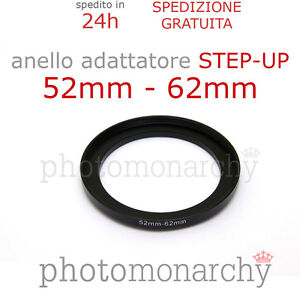 52mm 62-52mm Adattatore Filtro Anello Adattatore Step-Down 62mm