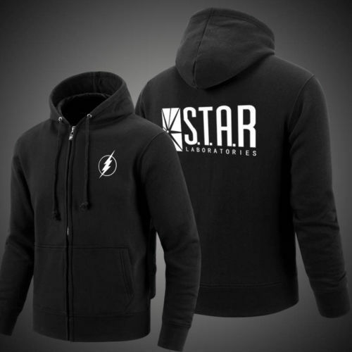 The Flash Star Laboratories S.T.A.R Labs Logo GFR Hoodie zipper coat sweatshirt