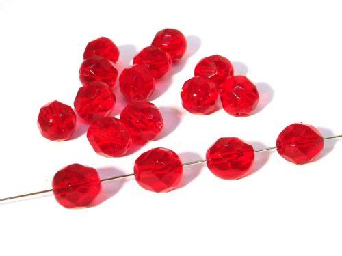 25 unidades #g35//1 cereza Vidrio faceteados esmerilado perlas 8mm
