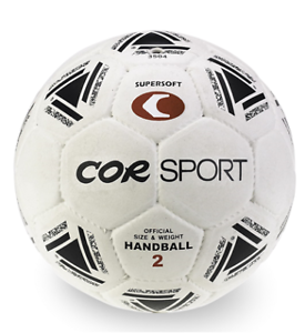 Pallone pallamano supersoft gomma/nylon misura 2 CORSPORT official palla mano