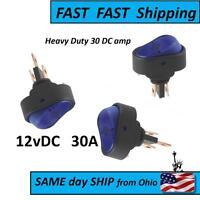 Blue 30 Amp Switch - Dc Voltage - Flip / Toggle Switch Sw - - Spst