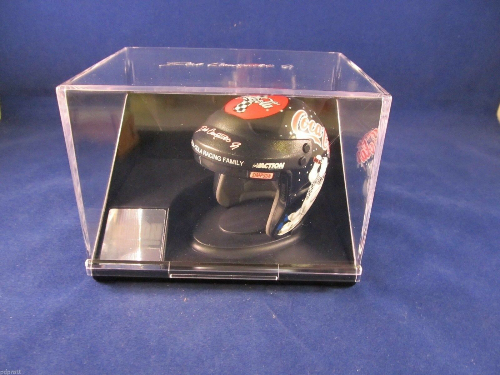 DALE EARNHARDT JR. 1 4 SCALE COCA-COLA NASCAR RACING HELMET MINT IN DISPLAY CASE