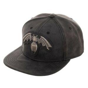 Marvel Venom Symbol Distressed Snapback Baseball Cap