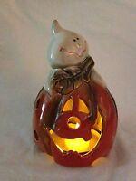 Scenterrific Decorative Fragance Warmer - Halloween Pumpkin With Ghost