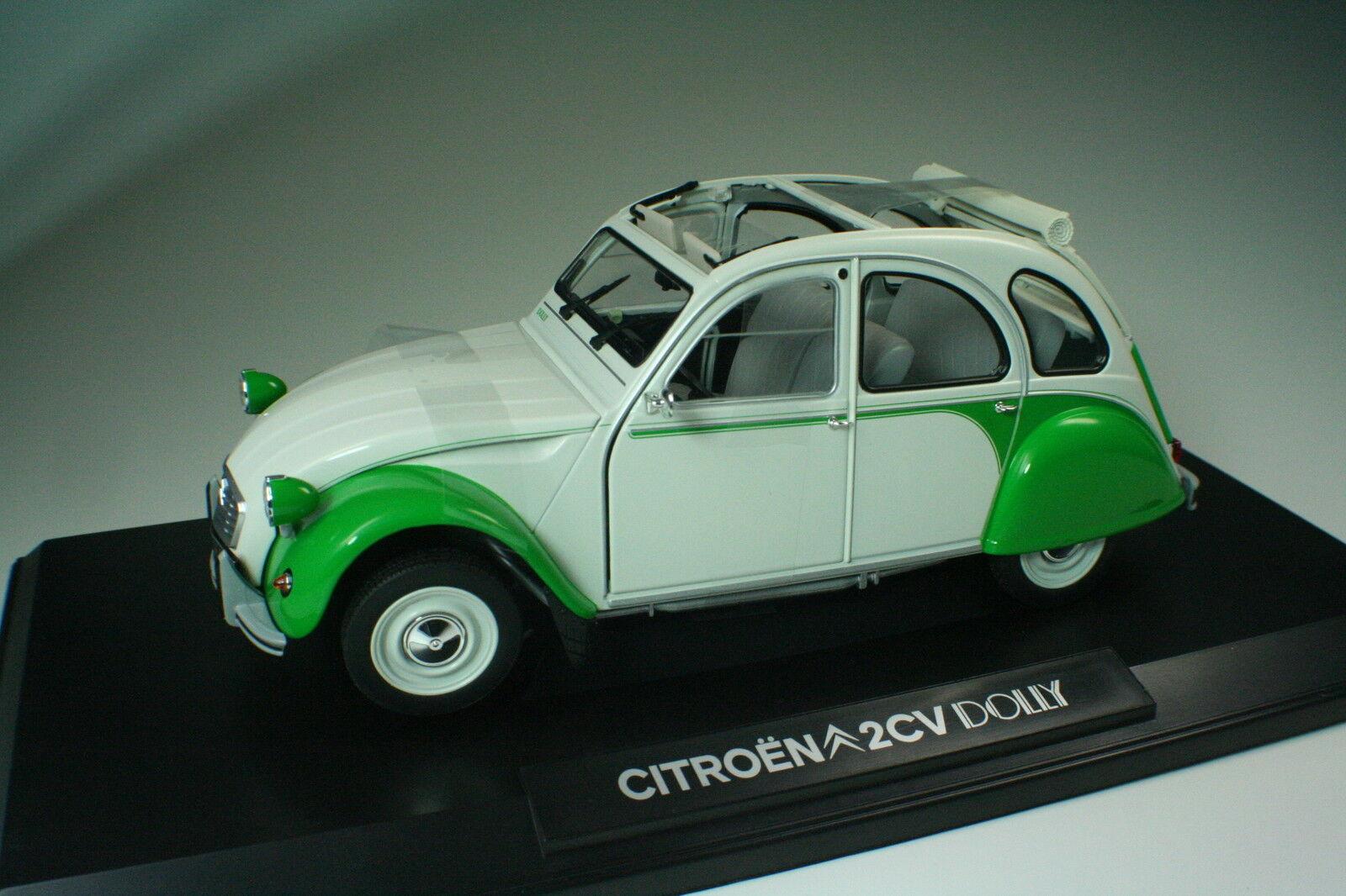 Citroen 2CV Dolly weiss   green 181512 Norev 1 18 NEU OVP