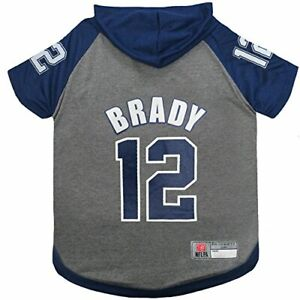 premium selection 7570d 244a7 Details about NFLPA Tom Brady Hoodie for Dogs & Cats. NFL New England  Patriots Dog T-Shirt, Me