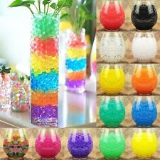 1000Pcs Water Absorbing Crystal Beads Gel Soil Ball Wedding Home Decor Pearl