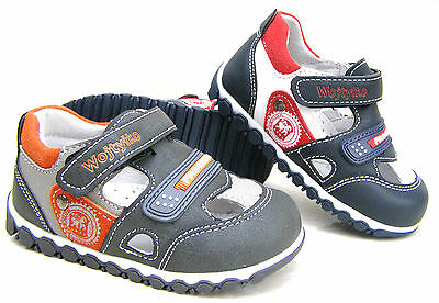 NEW BOYS LEATHER LINED SANDALS BABY KIDS WALKING SUMMER HOLIDAY SHOES SIZES UK