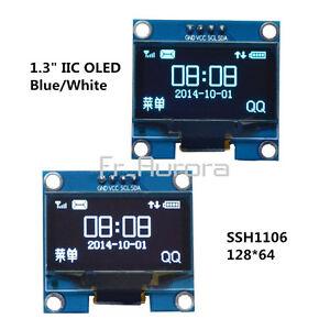 1-3-034-Blue-White-IIC-I2C-Serial-128X64-OLED-LCD-Display-Screen-Module-For-Arduino