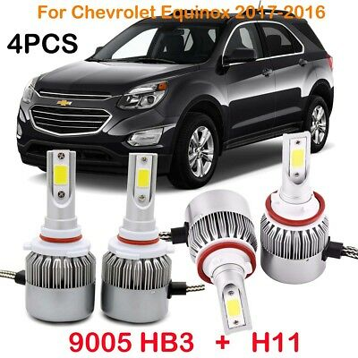 Front H11 9005 HB3 LED Headlight Kits Bulbs For Chevrolet Colorado 2017-2015