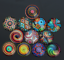 DIY Mixed color paragraph glass cabochons gem inlay Jewelry Accessories Crafts