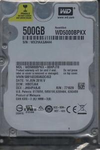 Wd5000bpkx 00hpjt0 Dcm Hbotjak Sn Wx31 Western Digital 500gb Sata C7 05 Ebay