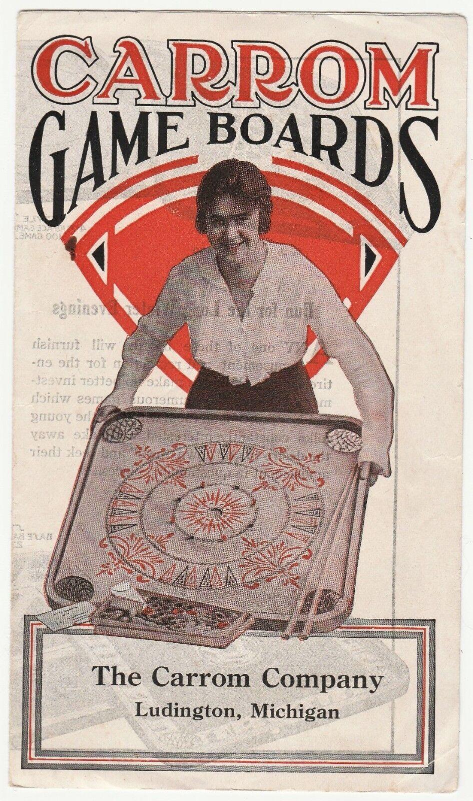 RARE Adverdeising Flyer Catalog - autorom gioco tavolas ca 1915  Pool Crokinole  sport caldi