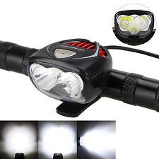 6000LM 3x CREE XM-L T6 LED Cabeza Frente Ciclismo Lámpara Para Bicicleta Luz