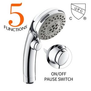 Hand Held Shower Heads With On Off Switch.Details About Homelody High Pressure Handheld Shower Head With On Off Pause Switch 5 Settings