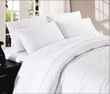 Súper Conjunto de ropa de cama King Size De Rayas en Blanco 1000 Hilos 100% Algodón Egipcio