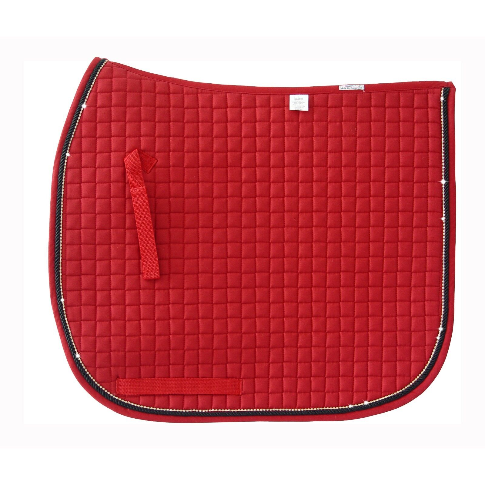 PRI Quilted Dressage Pad  with Accent Cord and Rhinestone Trim - Different colors  for sale online