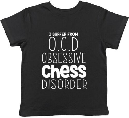 OCD Obsessive Chess Disorder Funny Childrens Kids T-Shirt Boys Girls Gift Tee