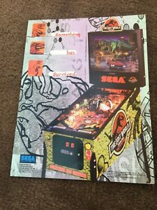 Jurassic Park The Lost World pinball Machine flyer