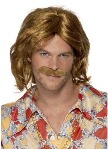 1970S Anni 1970 Super Trouper parrucca baffi Costume Da Uomo