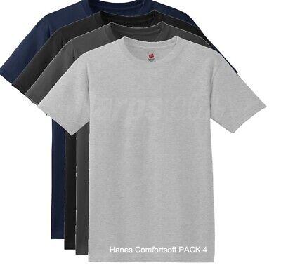 Hanes ComfortSoft® Men/'s Short-Sleeve Crewneck T-Shirt 4-Pack O5280