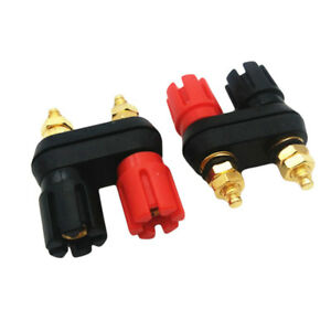 Dual-Female-Banana-Plug-Jack-Terminal-Binding-Post-for-Speaker-Amplifier-Hot