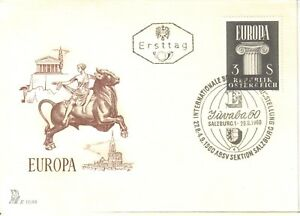 EUROPA-1960-AUSTRIA-BELGIUM-SWITZERLAND-4-DIFF-COVERS