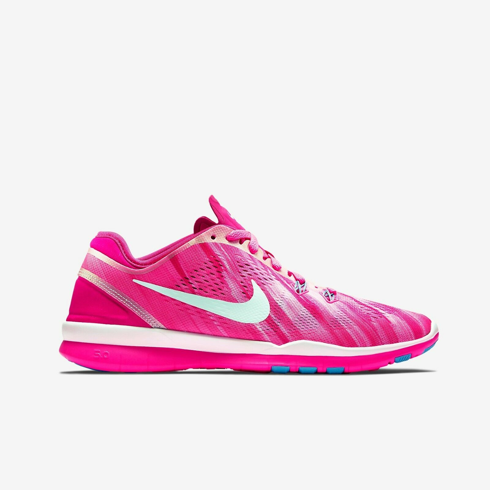 New Nike Women's Free 5.0 TR Fit 5 Print Shoes Authentic (704695-601) Pink Pow