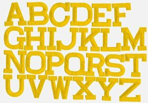 Image is loading YELLOW-2-034-Alphabet-Letters-your-choice-Iron-