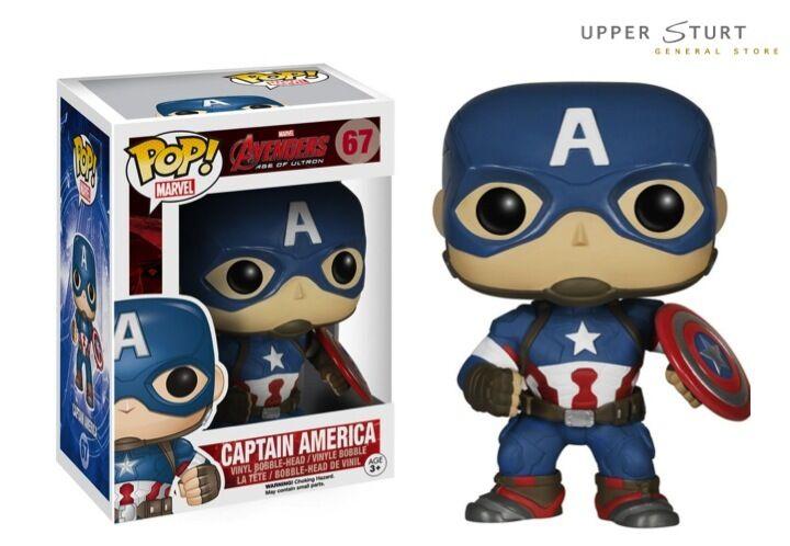 precios ultra bajos Pop Marvel Vengadores 2 Capitán América 67 Funko Pop Pop Pop Vinilo embalaje experto  entrega rápida
