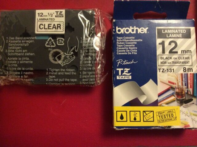 Lot of 2 GENUINE Brother P-touch TZ-131 1/2