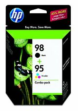 HP Genuine 98 Black + 95 Color Set of 2 Ink Cartridges In OEM Box