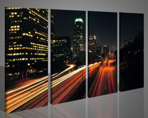 Quadri moderni città urbani 175x90 intelaiati stampe su tela canvas XXL 2739