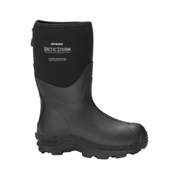 Dryshod Mens Arctic Storm MID Cold Winter Blk Muck Style Boot Size 13  ARS-MM-BK