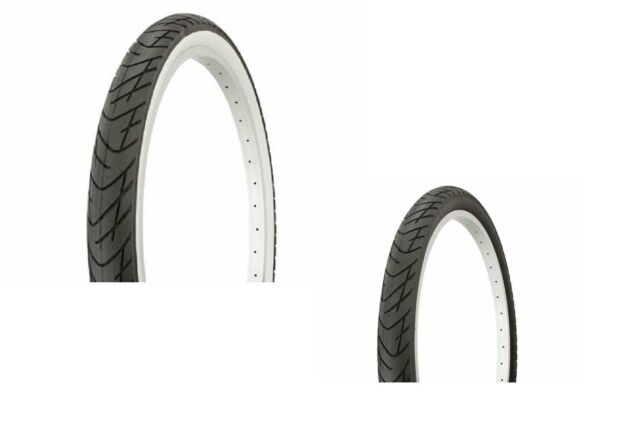 "2 TUBES/ TIRES 26"" X 2.125 SLICK ALL BLACK or WHITE WALL CRUSIER LOWRIDER MTB"