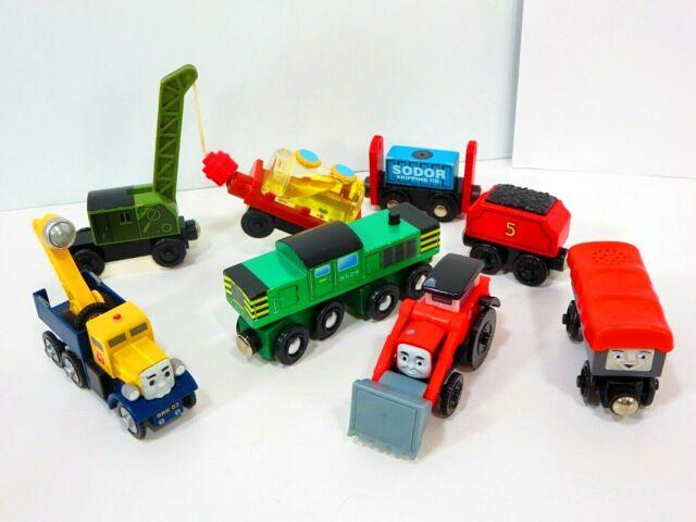 Thomas Wooden Railway Train Lot Crane Troublesome Construction Trucks Sodor