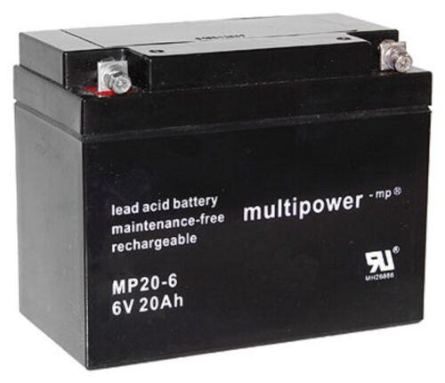 Multipower Batterie au Plomb MP20-6 Pb 6V 20Ah M5