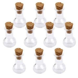 MINI-barattoli-bottiglie-di-vetro-con-tappo-di-sughero-desiderio-nota-Craft-Bottiglia-confezione-da