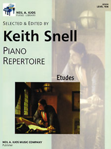 """piano Répertoire-etudes"" Niveau 10-ten Snell Music Book Kjos-neuf En Promotion!!!-des"" Level 10-ten Snell Music Book Kjos-brand New On Sale!! Fr-fr Afficher Le Titre D'origine"