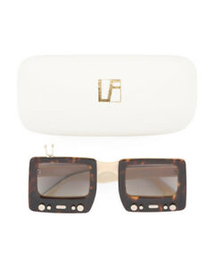 4a3d2b64b245 NWT JEREMY SCOTT x LINDA FARROW TV Specs tortoise brown RARE ...