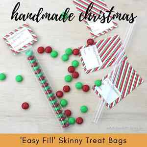 x100-EASY-FILL-Skinny-Treat-Tube-Bags-Clear-Tube-Christmas-Xmas-favour-gift