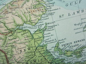 image is loading 1921 large map north eastern canada quebec ontario