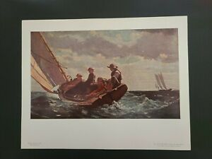 Winslow Homer National Gallery of Art - VTG Print - Breezing Up - Un-Framed