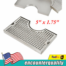 12 X 7 Tap Draft Beer Tower Drip Tray Kegerator Stainless Surface No Drain