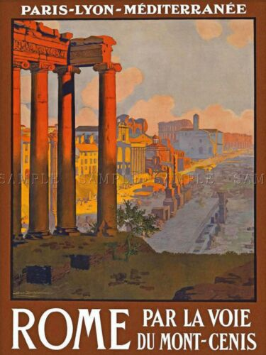 TRAVEL RUIN FORUM ROME ITALY VINTAGE REPRO POSTER ART PRINT 1015PYLV