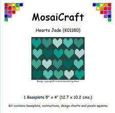 MosaiCraft Pixel Craft Mosaic Art Kit 'Hearts Jade' Pixelhobby