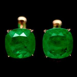 10x10mm-FOREST-GREEN-DOUBLET-EMERALD-Natural-Quartz-925-Silver-Cushion-EARRINGS